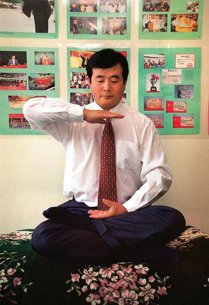 李洪志大师在紐約-1999