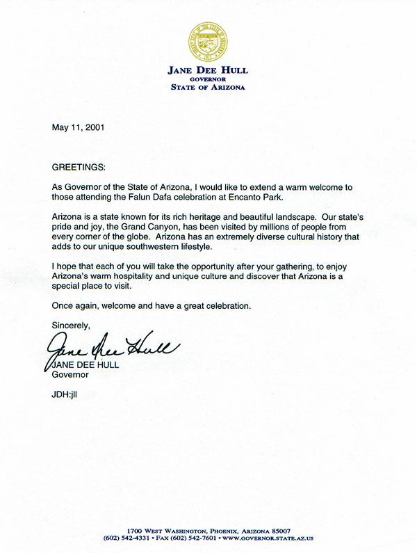 Falun Dafa Day Recognition