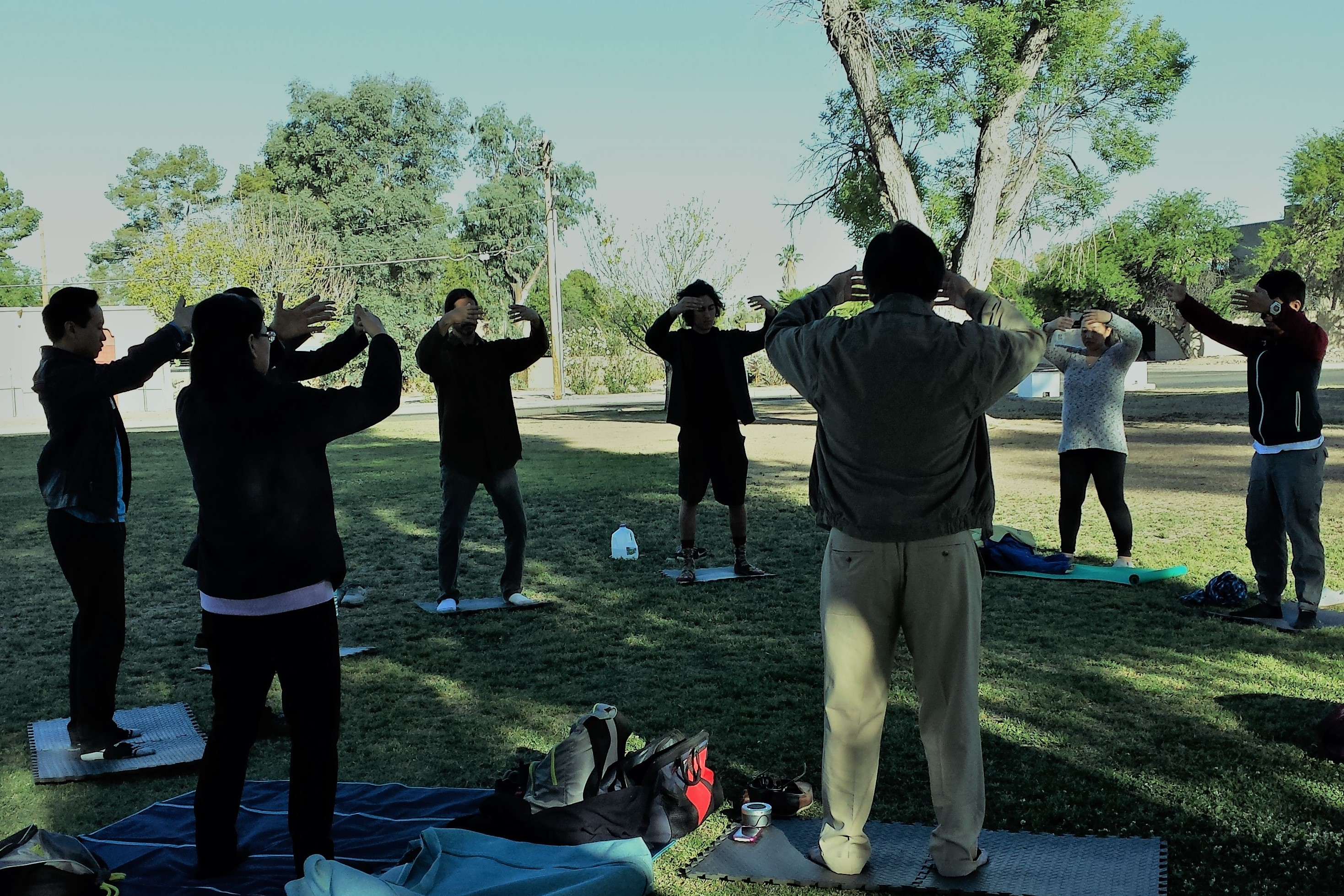 Falun Dafa Exercise 2 at Himmel Park Tucson Arizona 2017-04-30