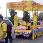Falun Dafa float at Hopi Fair