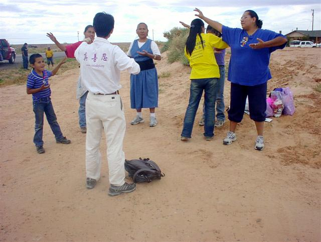 The Navajo welcome Falun Gong